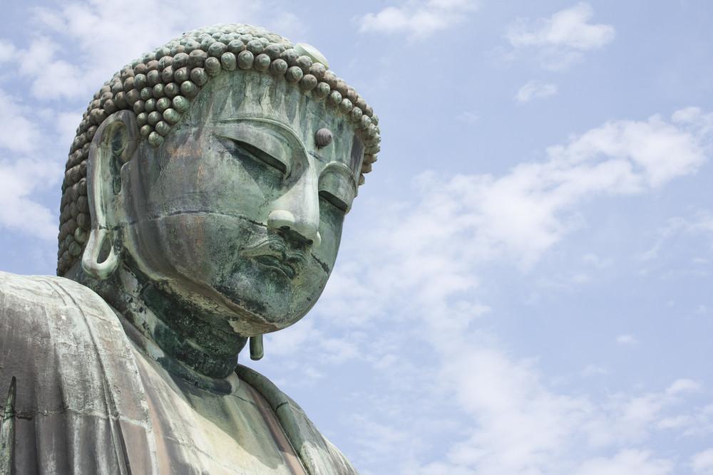 KAMAKURA - APRIL 13 : Close up great buddha in Kotoku-in Temple on April 13, 2012 in Kamakura, Kanagawa, Japan