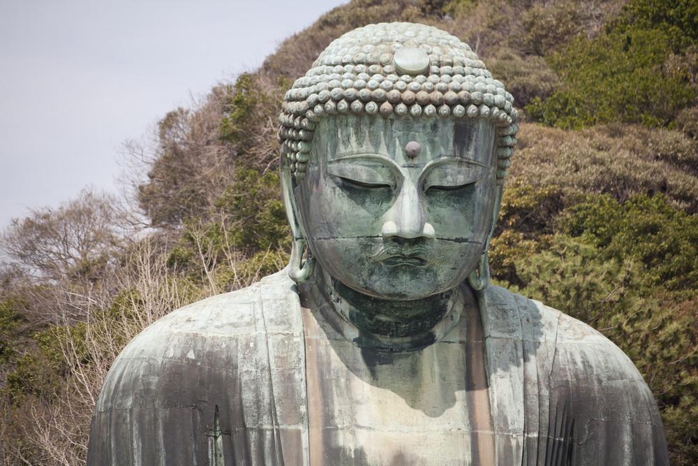 KAMAKURA - APRIL 13 : Great buddha in Kotoku-in Temple on April 13, 2012 in Kamakura, Kanagawa, Japan