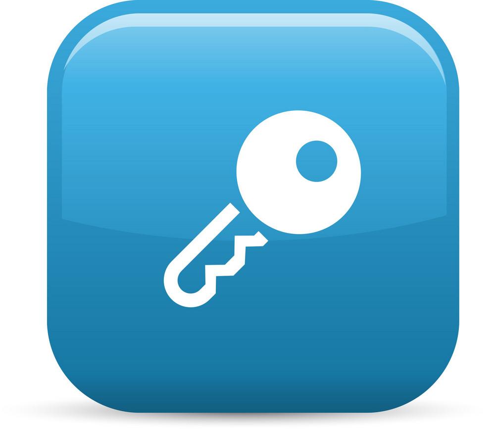 Key 1 Elements Glossy Icon
