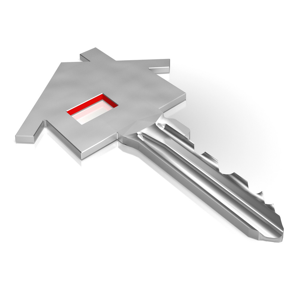 Key With House Showing Home Security