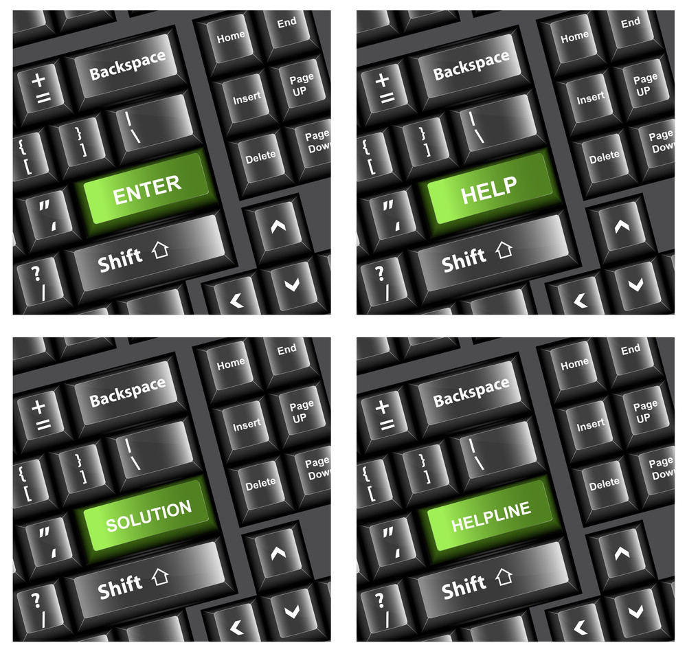 Keyboard Buttons Vectors