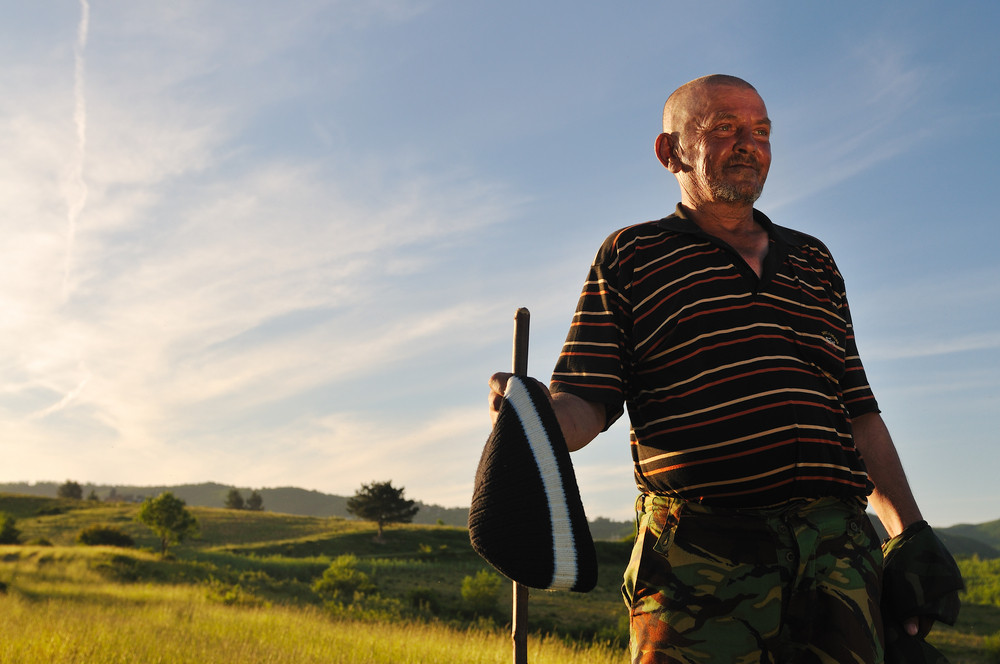 Portrait of older man