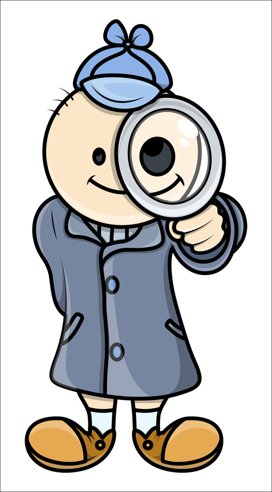 Kid Act Like Detective - Vector Illustrations