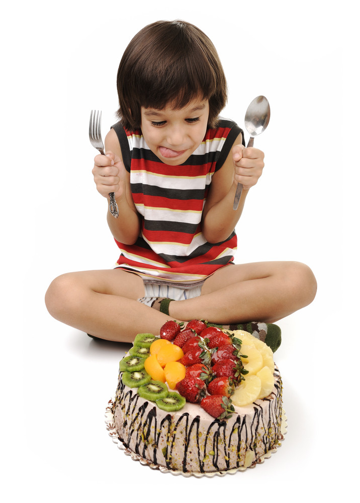 Kid eating cake RoyaltyFree Stock Image Storyblocks