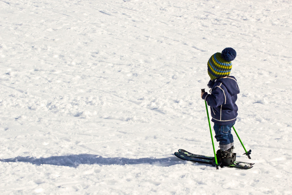 Kid Skiing