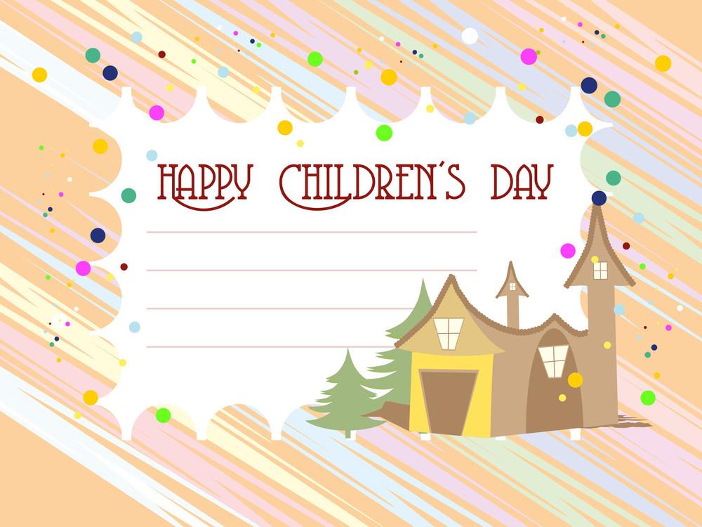 Kiddish Concept Background For Children's Day