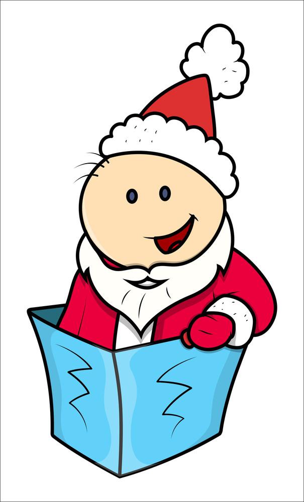 Kids In Santa Dress - Vector Illustrations
