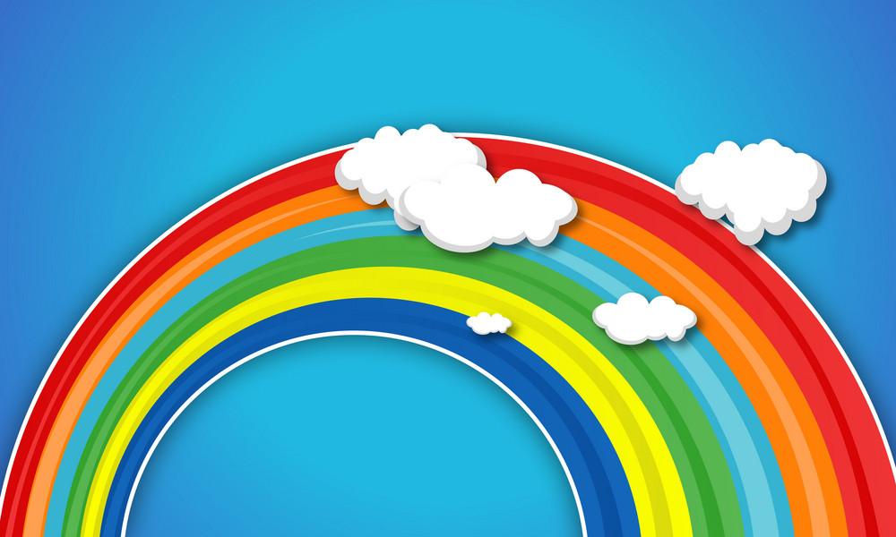 兒童彩虹背景