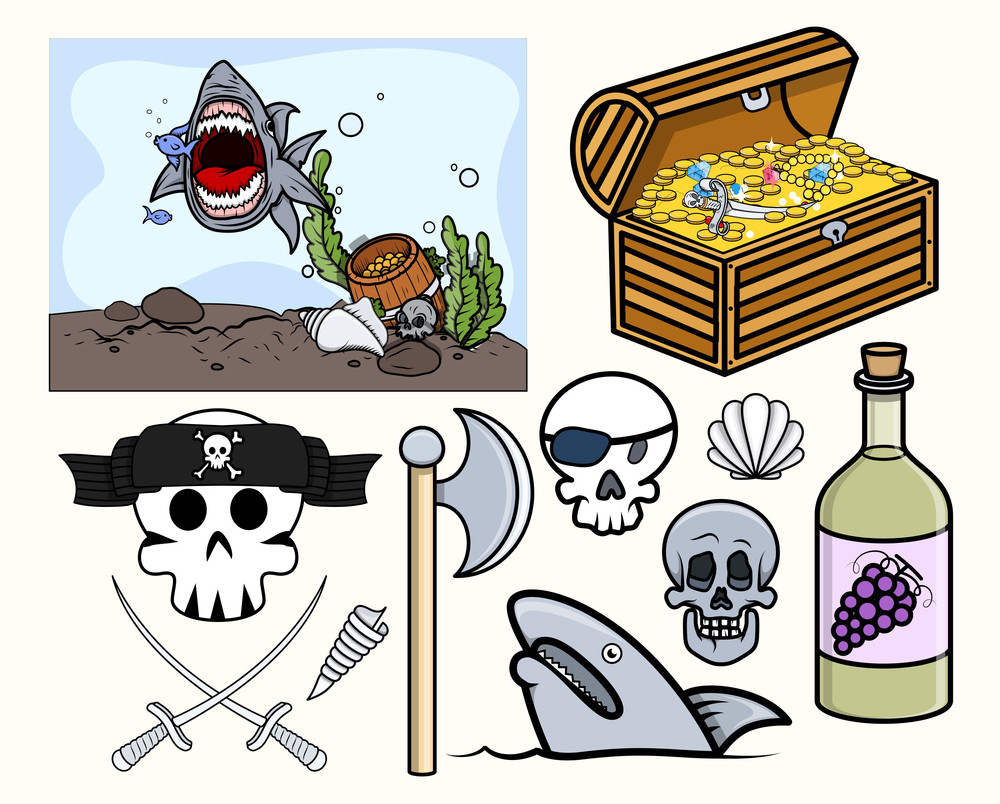 Kids Vectors - Pirate And Crew