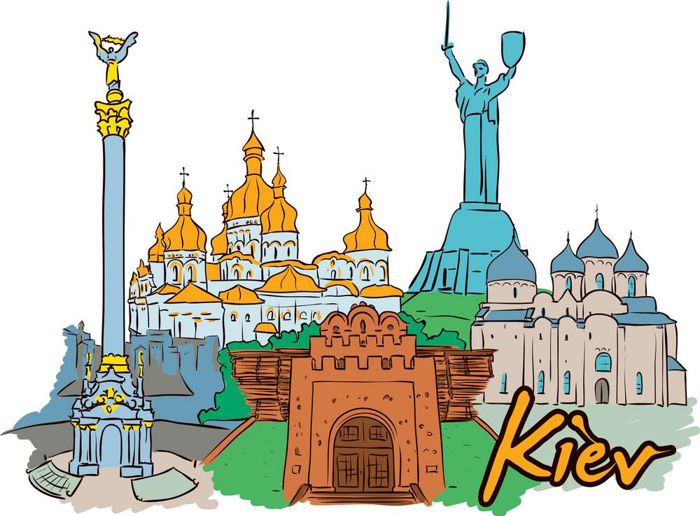 Kiev Vector Doodle