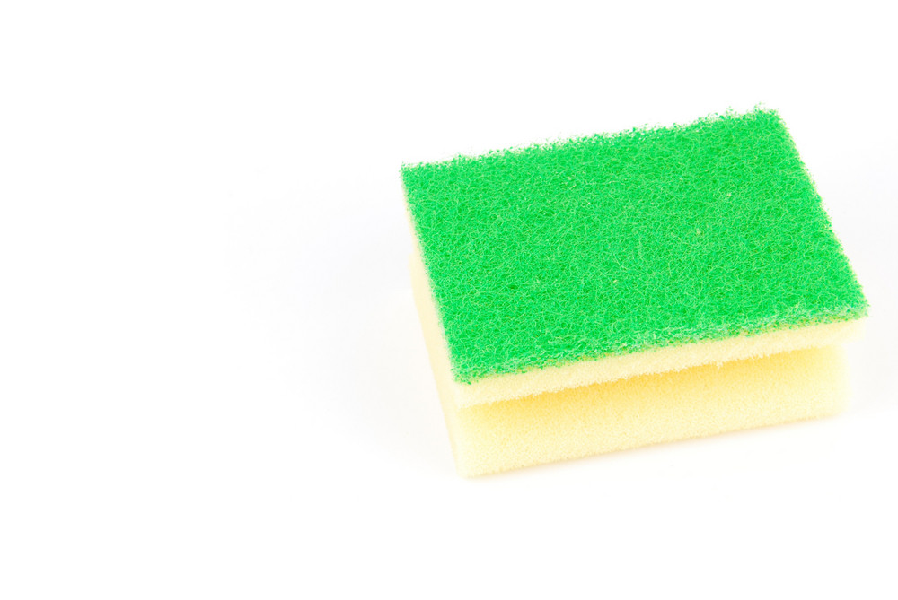 Kitchen Sponge On White