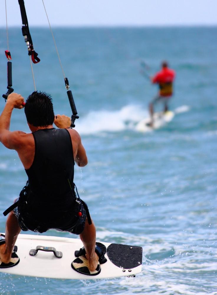 Kite Surfing On The Ocean