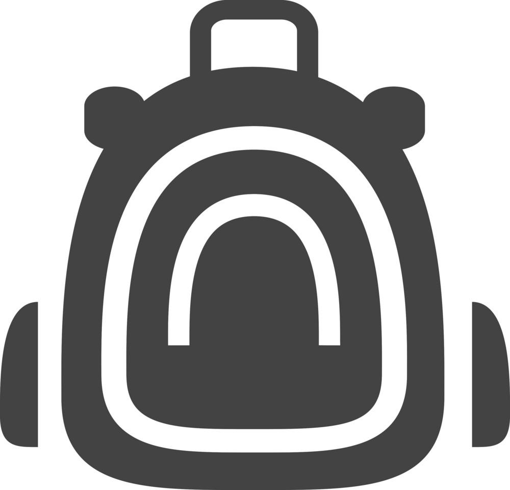 Knapsack Glyph Icon