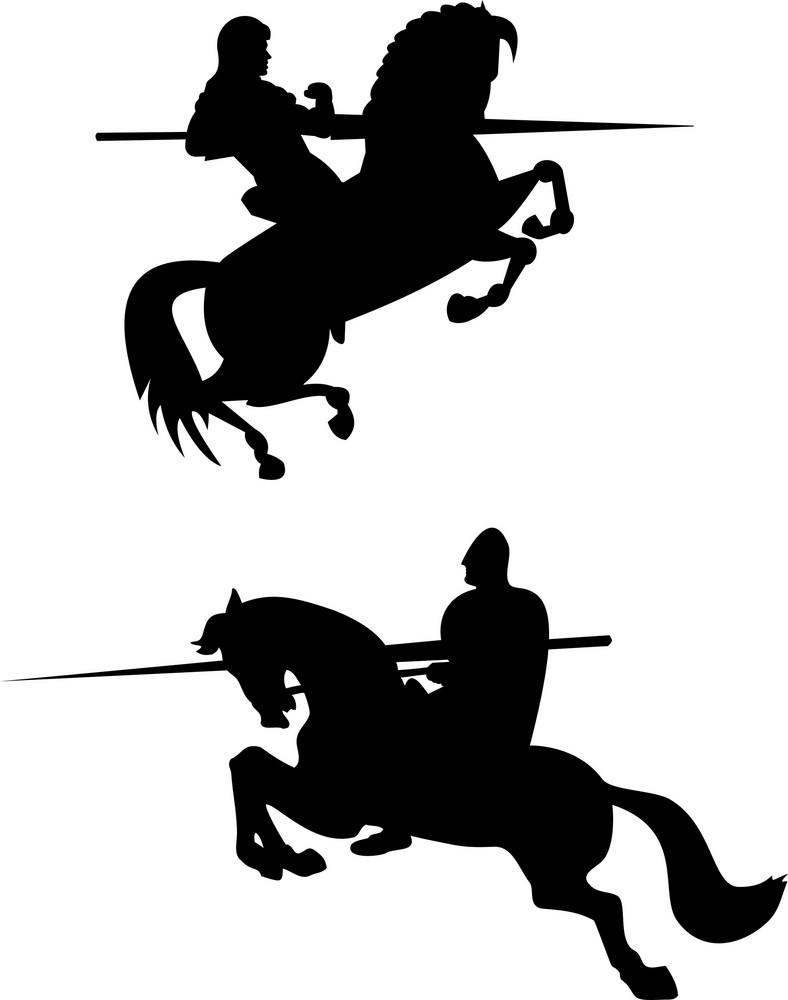 Knight Riding Silhouette
