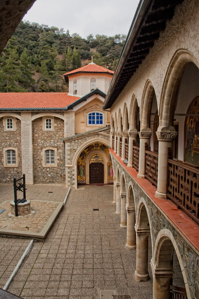 Kykkos Monastery In Troodos Mountains.