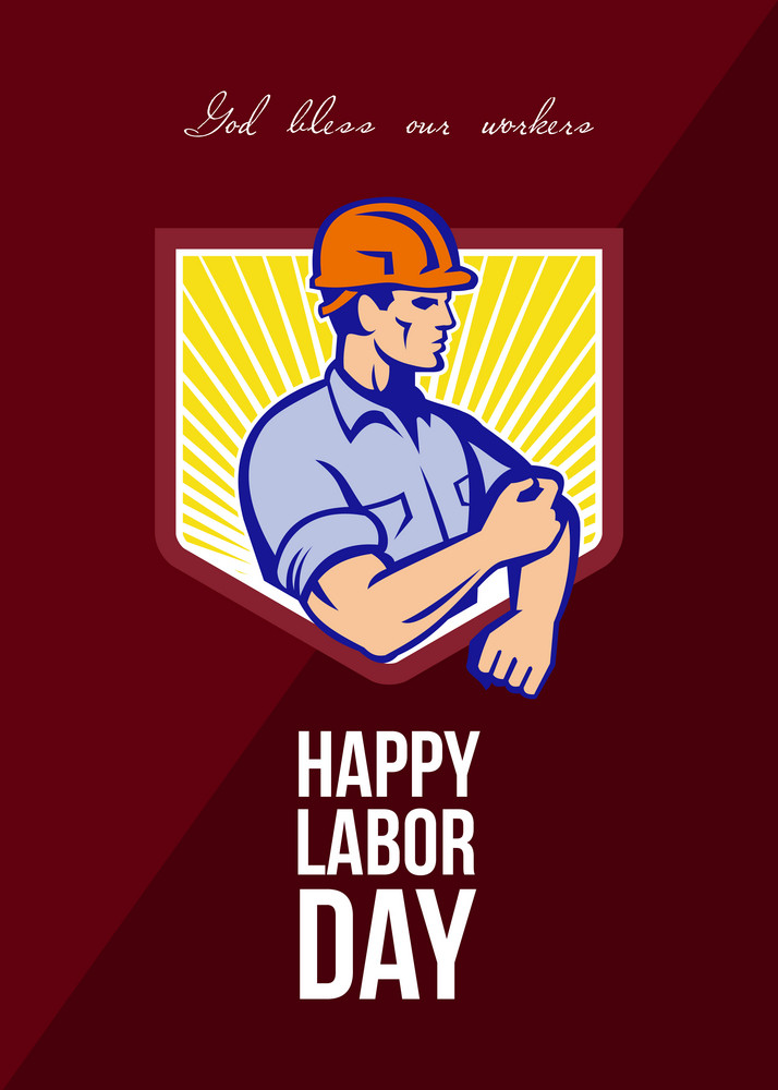 Labor Day Celebration Greeting Card Poster