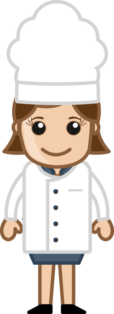 Lady Chef - Vector Character Cartoon Illustration