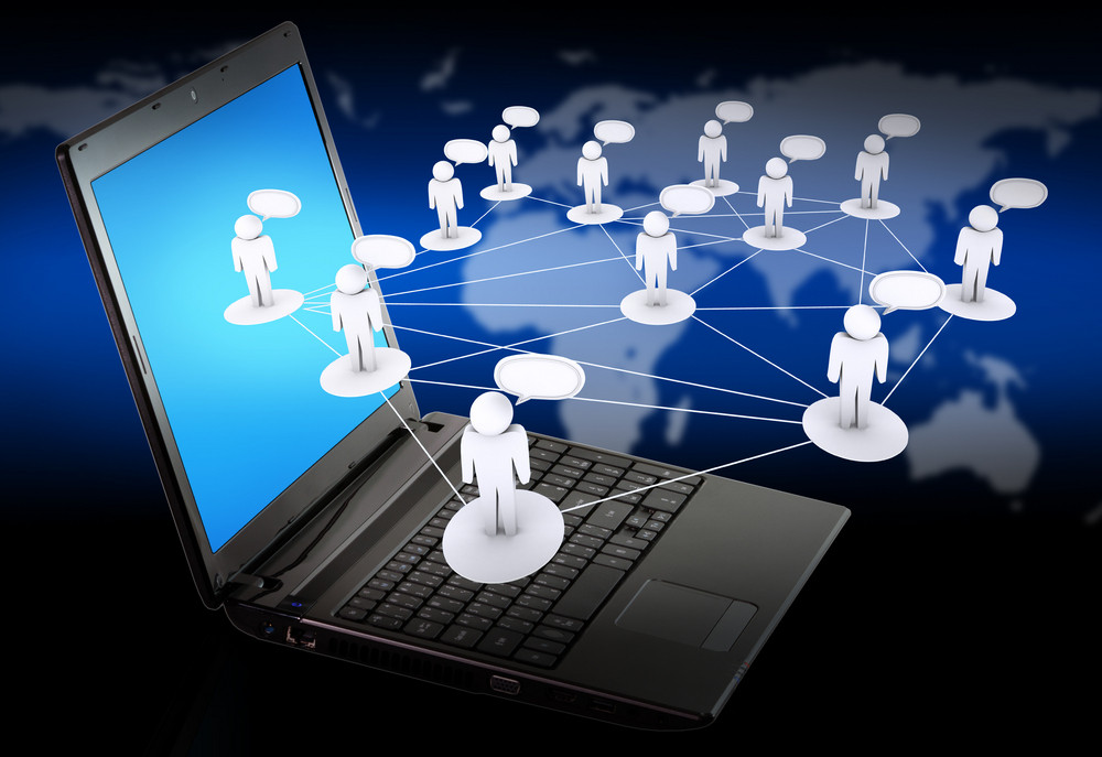 Laptop As Social Networking Concept