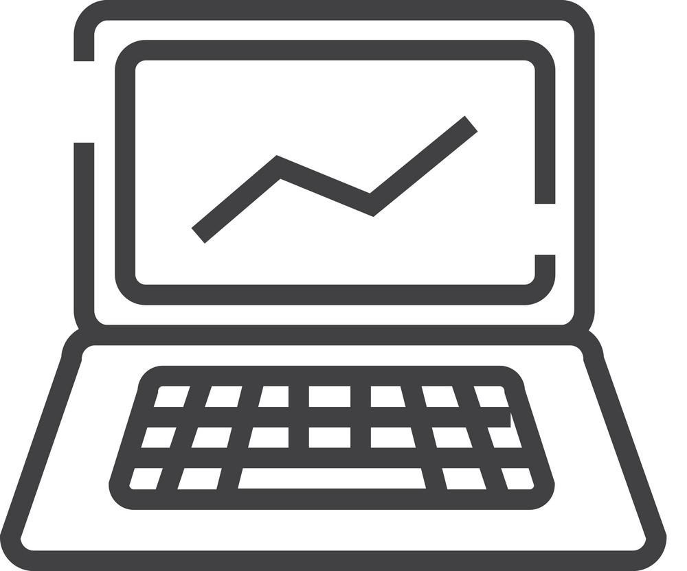 Laptop Minimal Icon