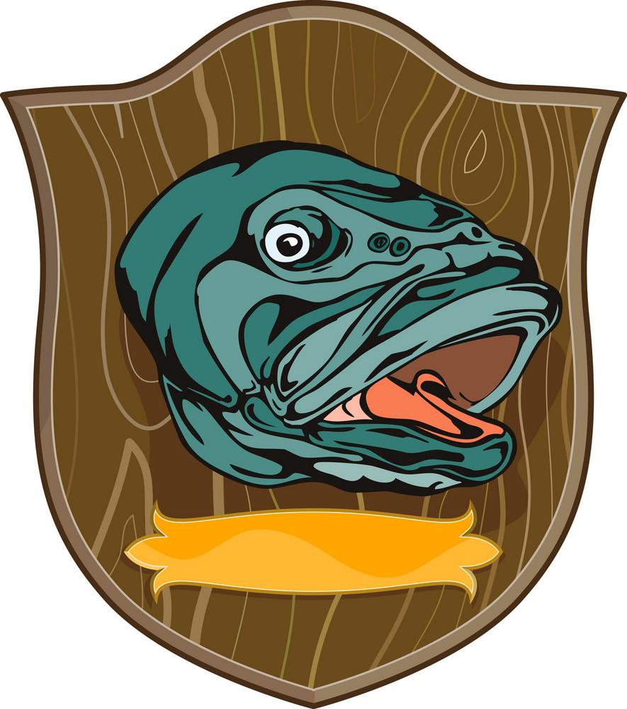 Largemouth Bass On Shield