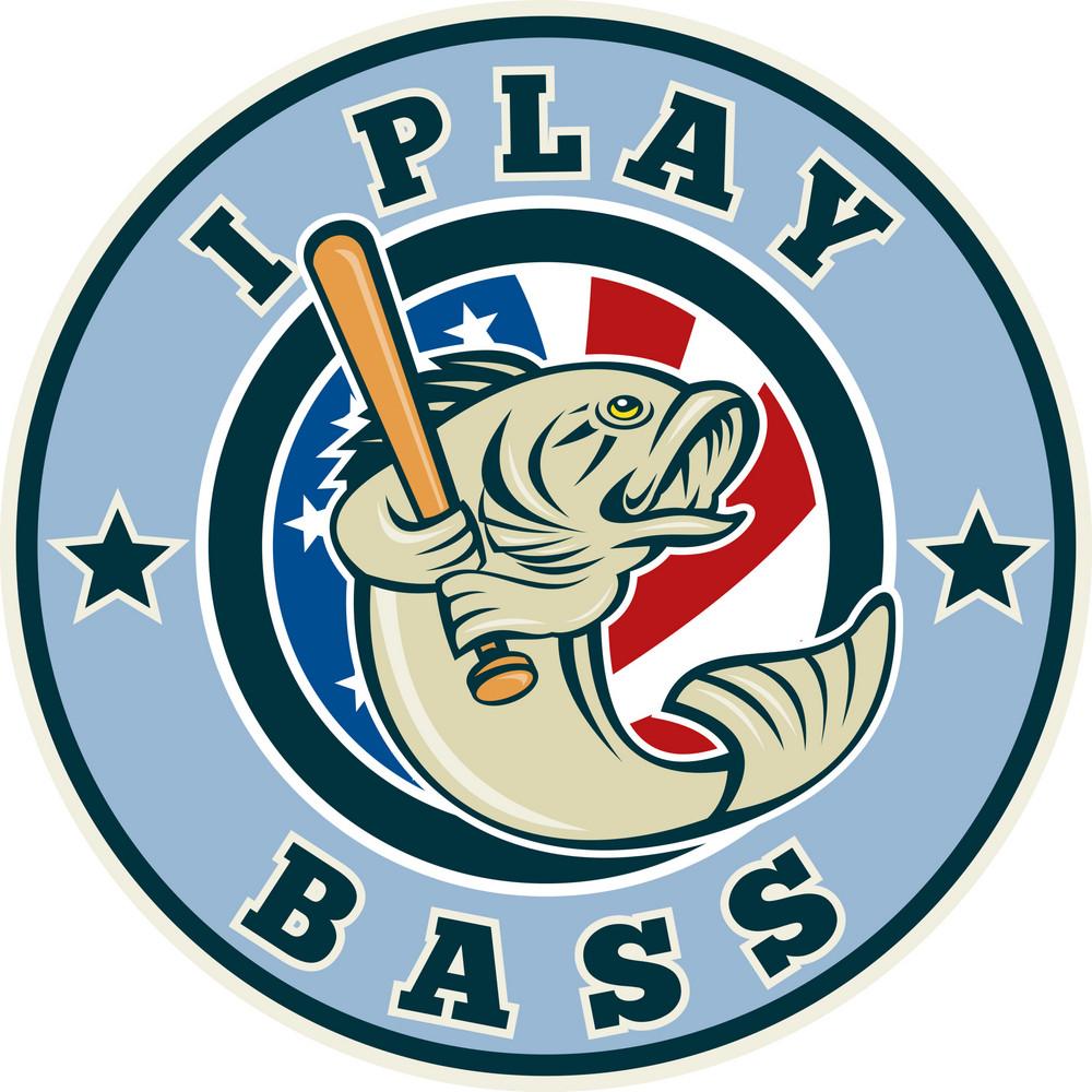Largemouth Bass Playing Baseball Bat