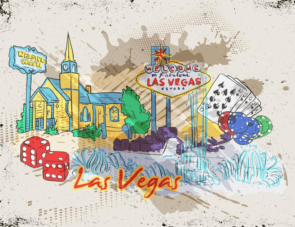 Las Vegas Vector Illustration