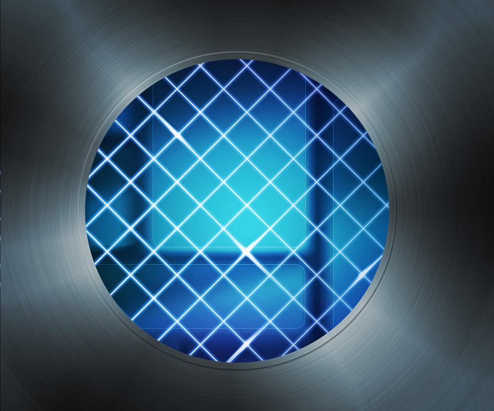 Laser Digital Hole Background
