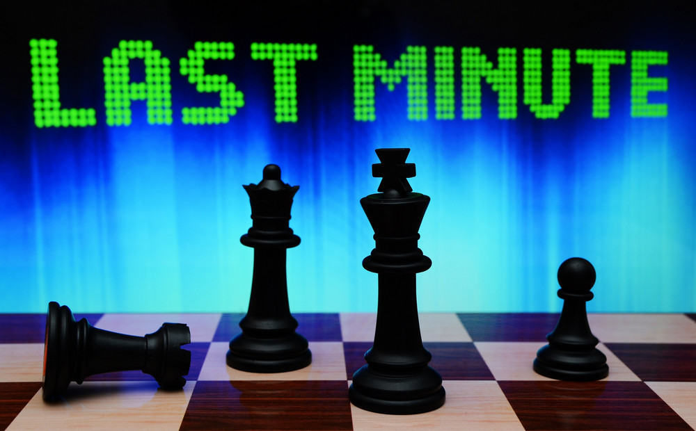 Last Minute And Chess Concept