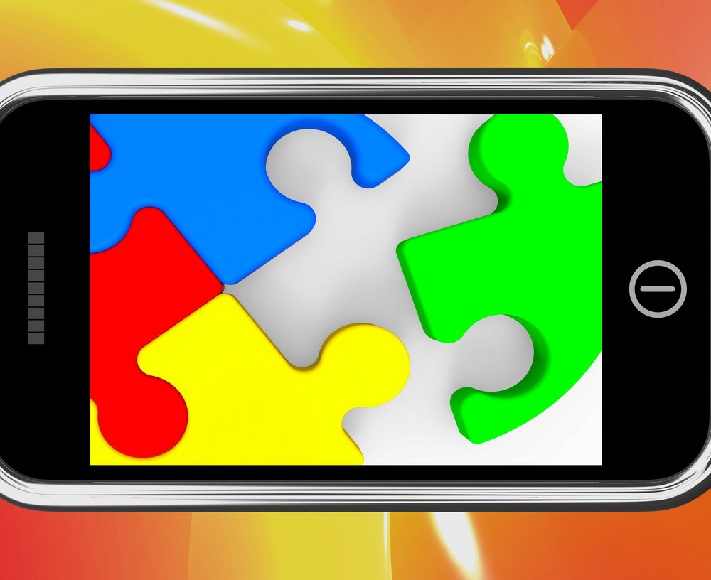 Last Piece On Smartphone Shows Solving
