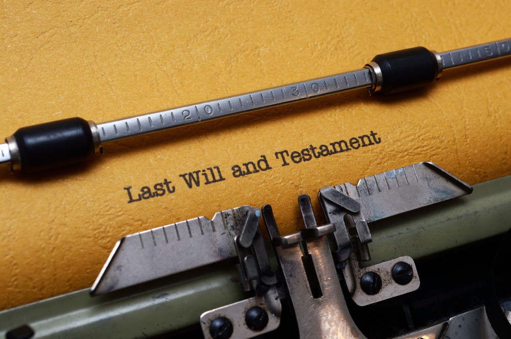 Last Will And Testament On Typewriter