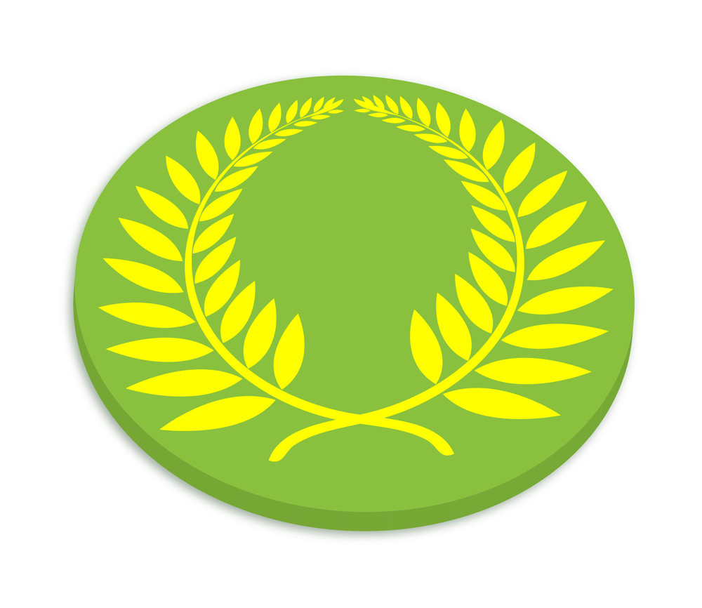 Laurel Wreath Symbol Coin