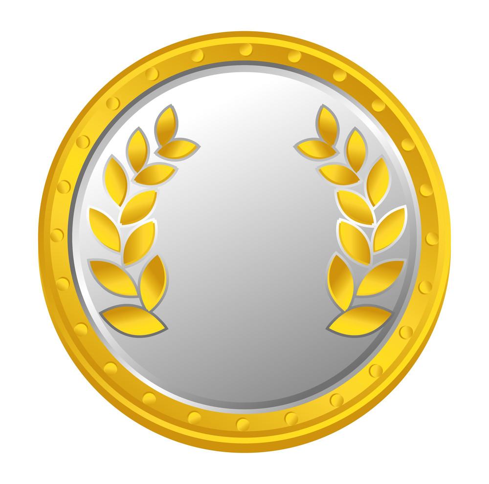 Laurel Wreath Vector Coin