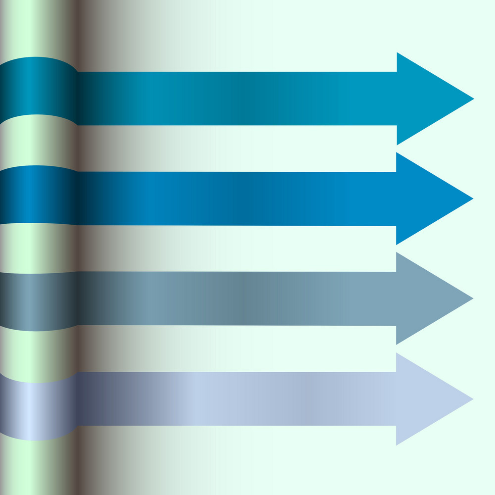Layout Design With  Blue Arrows