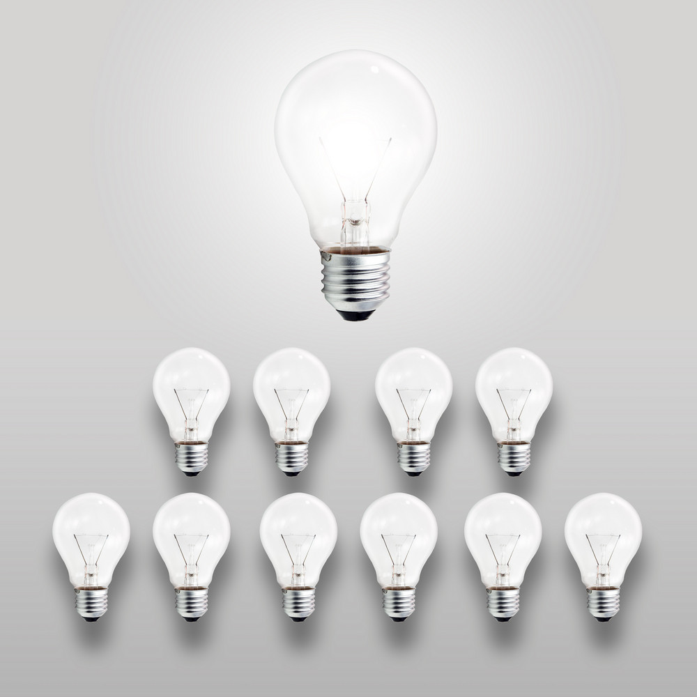 Leader Light Bulb As Concept