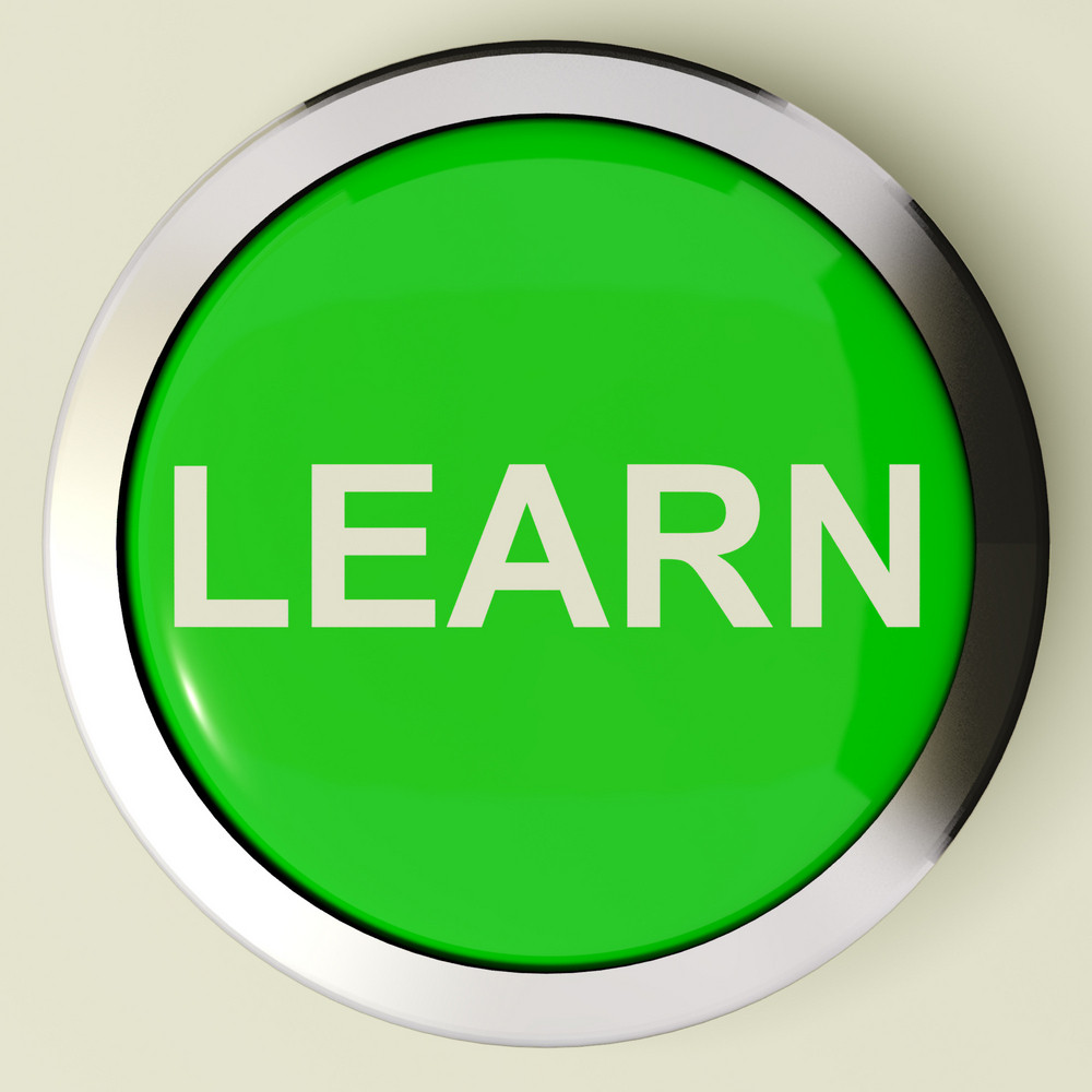 Learn Button Or Icon For Education Or Online Learning