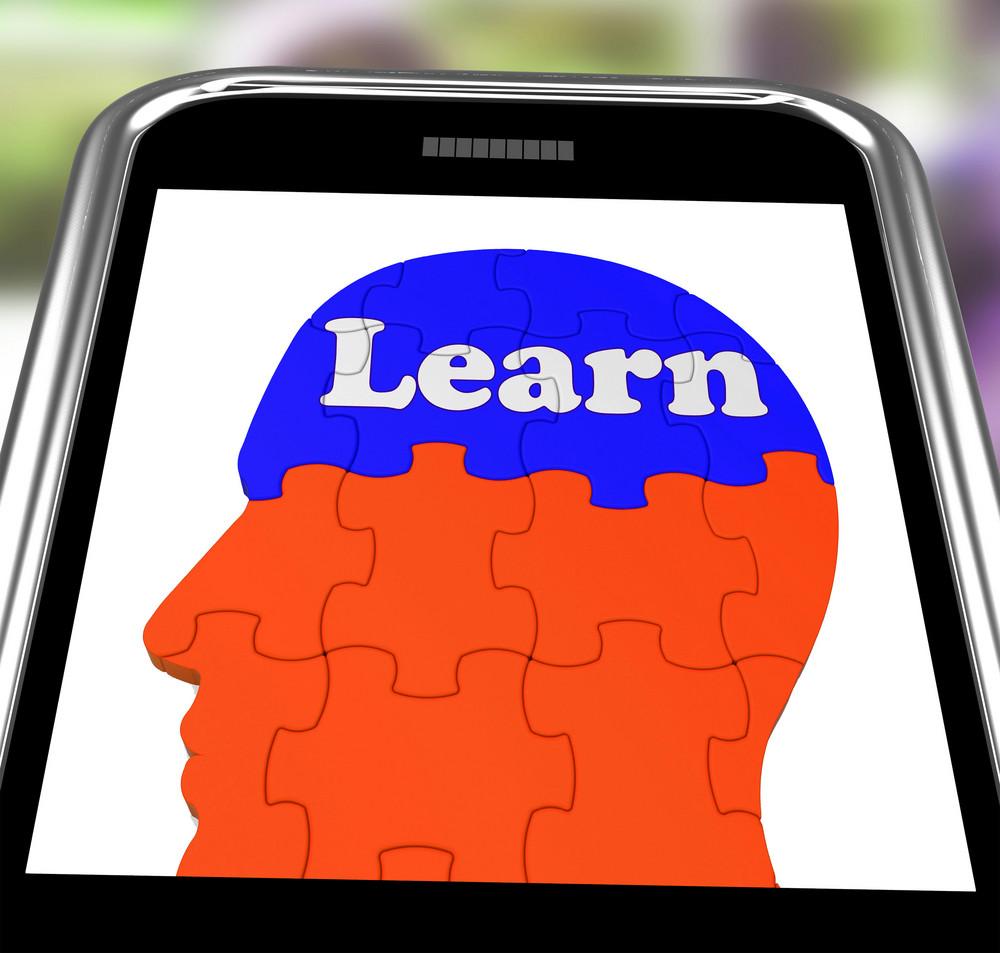 Learn On Brain On Smartphone Showing Human Training