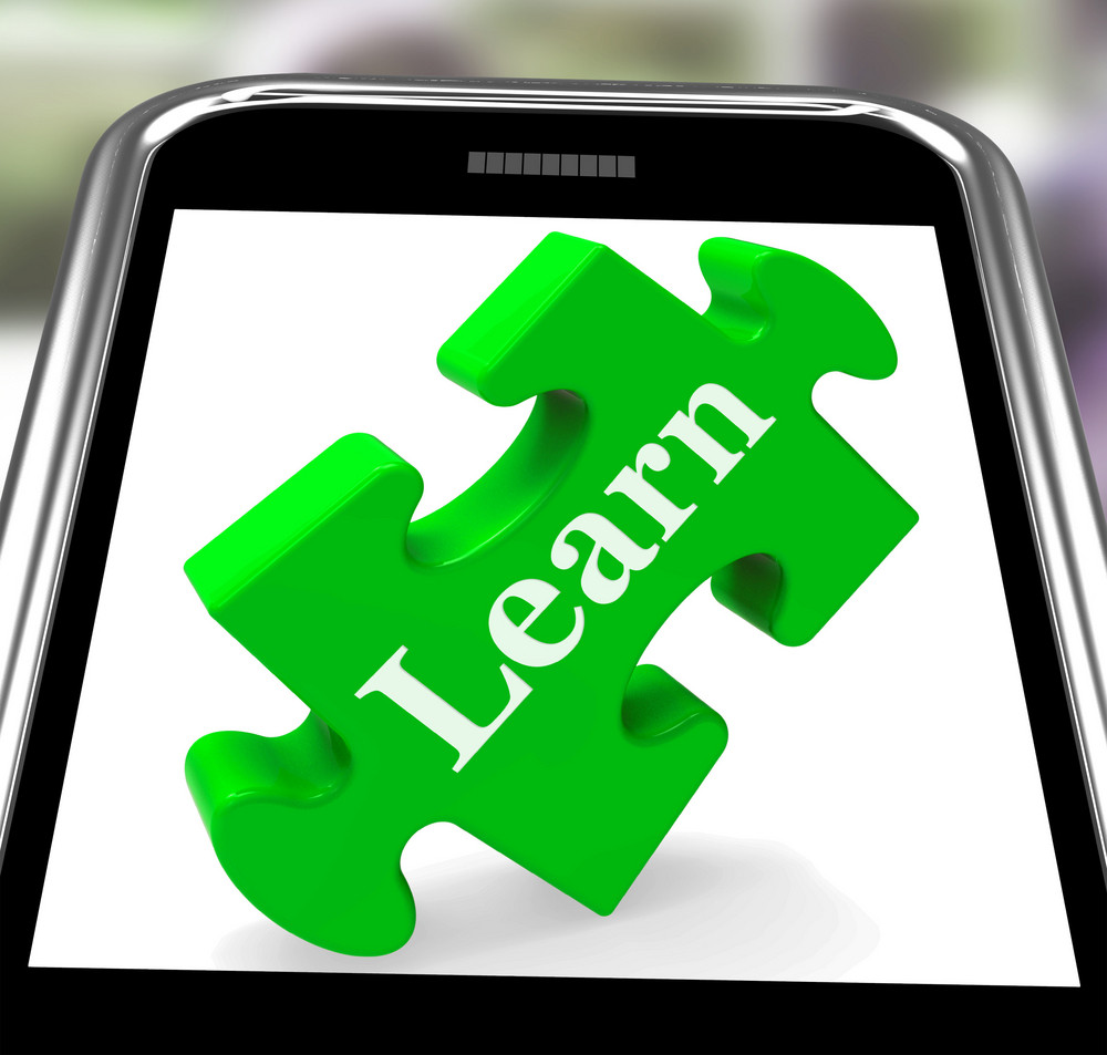 Learn On Smartphone Showing Recreational Lessons