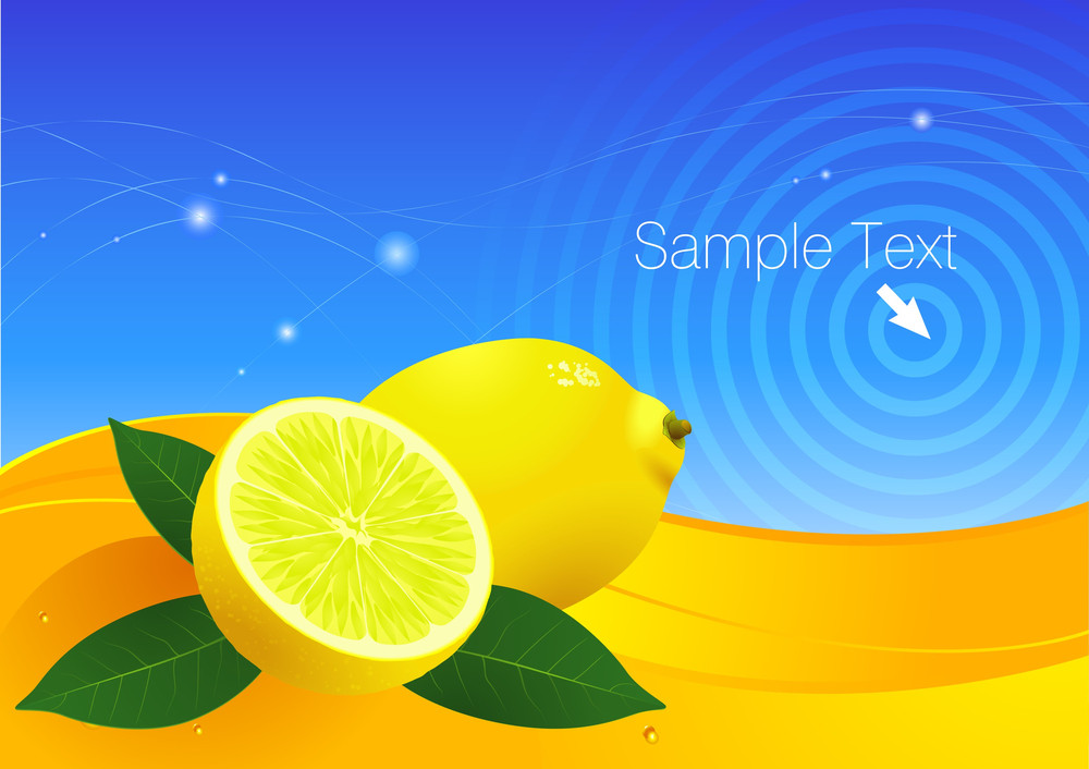 Lemon Fresh Vector Background.