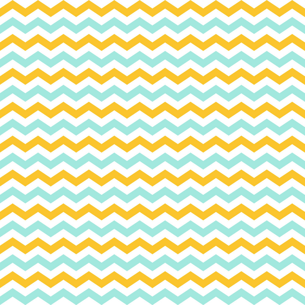 Lemon Yellow, White, And Blue Chevron Pattern