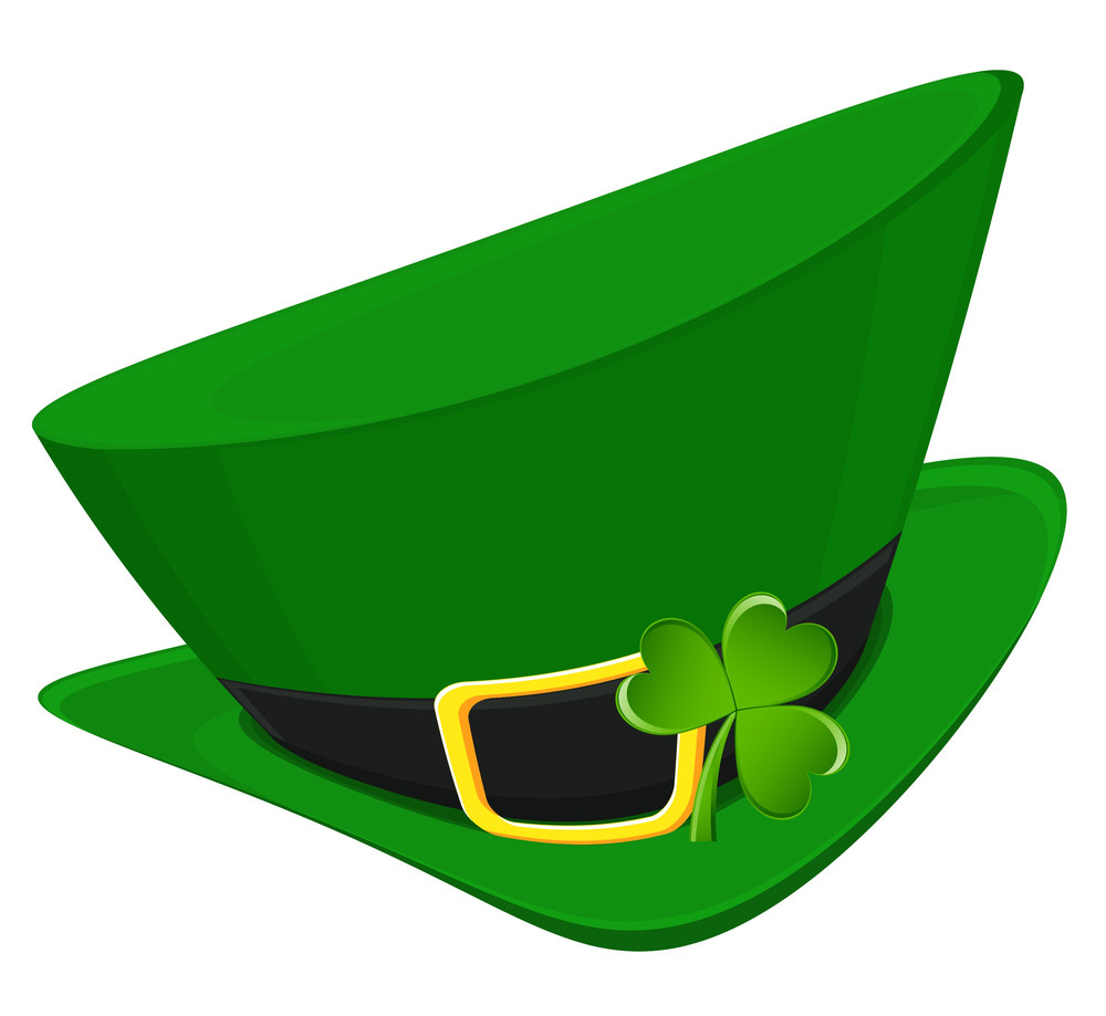 Leprechaun Hat With Green Clover