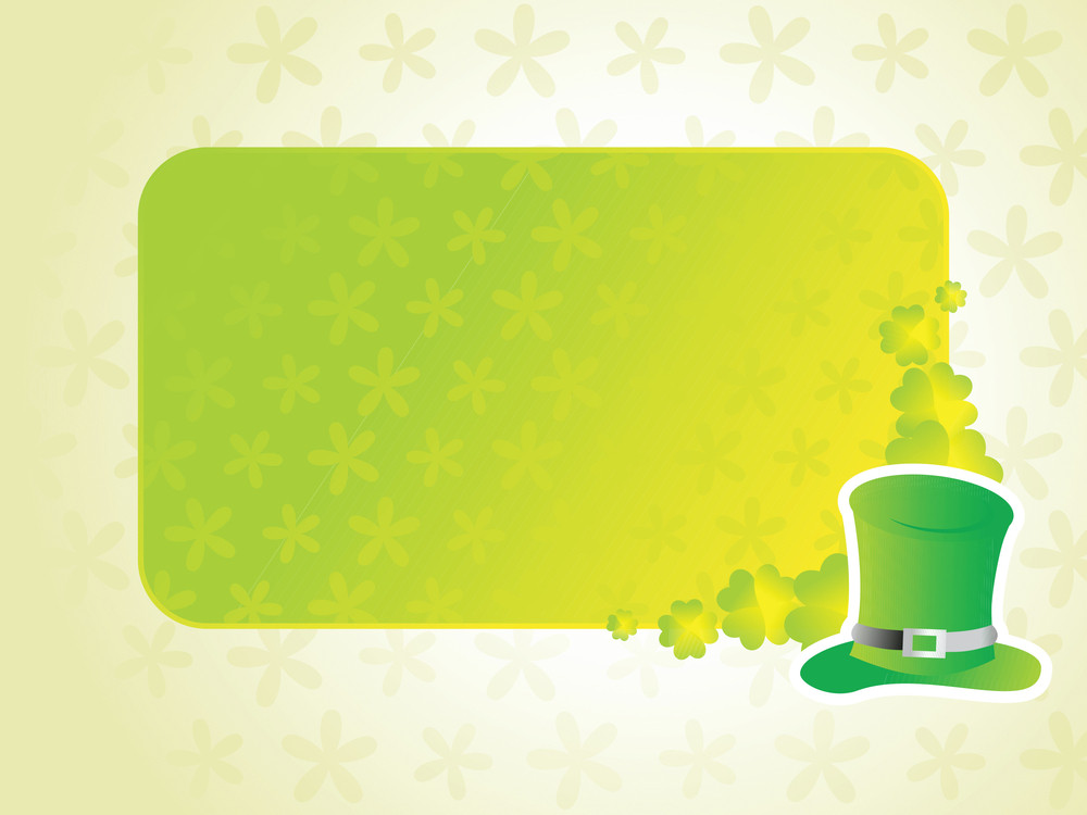 Leprechaun Hat With Nice Abstract Background