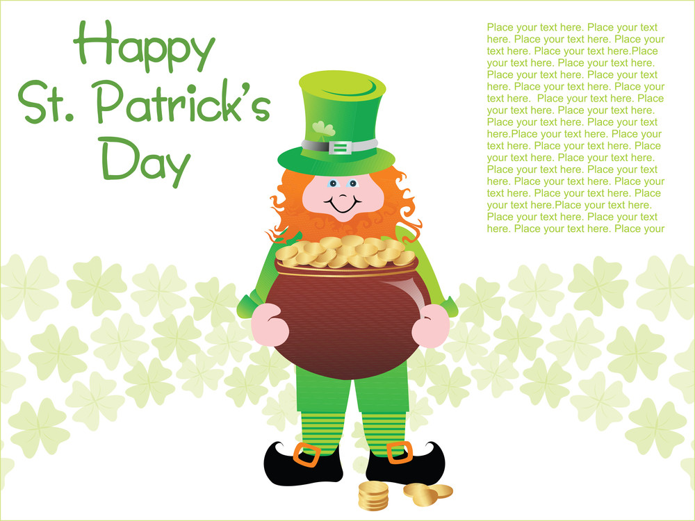 Leprechaun With Magical Gold Coin Pots 17 March
