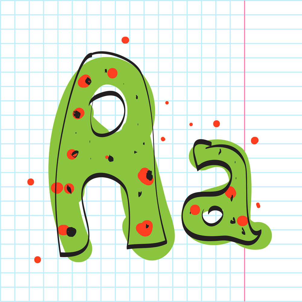 Letter A From Candy Alphabet. Vector Illustration