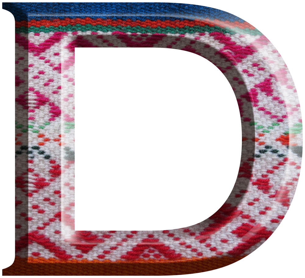 Letter D Made With Hand Made Woolen Fabric