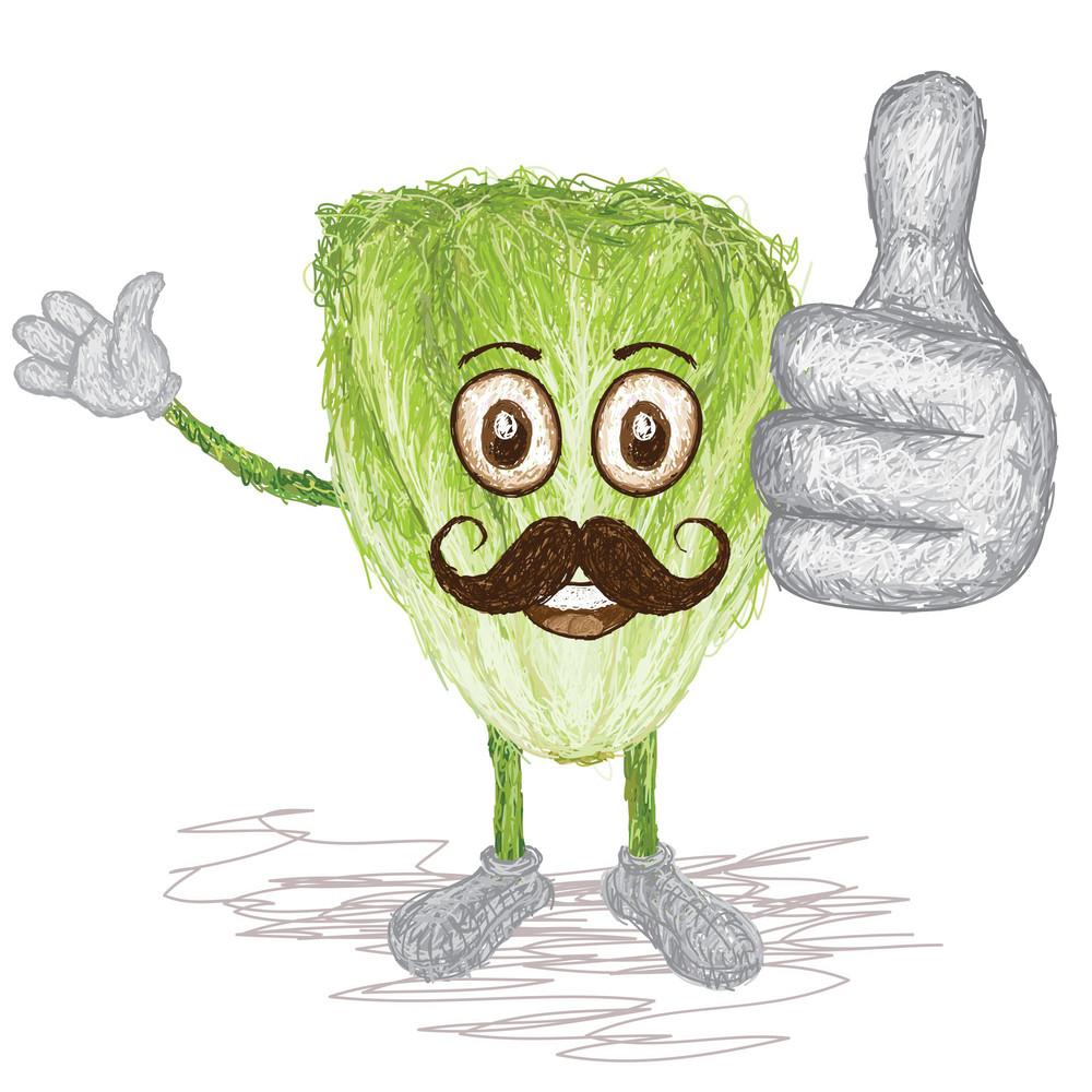 Lettuce Vegetable Mustache