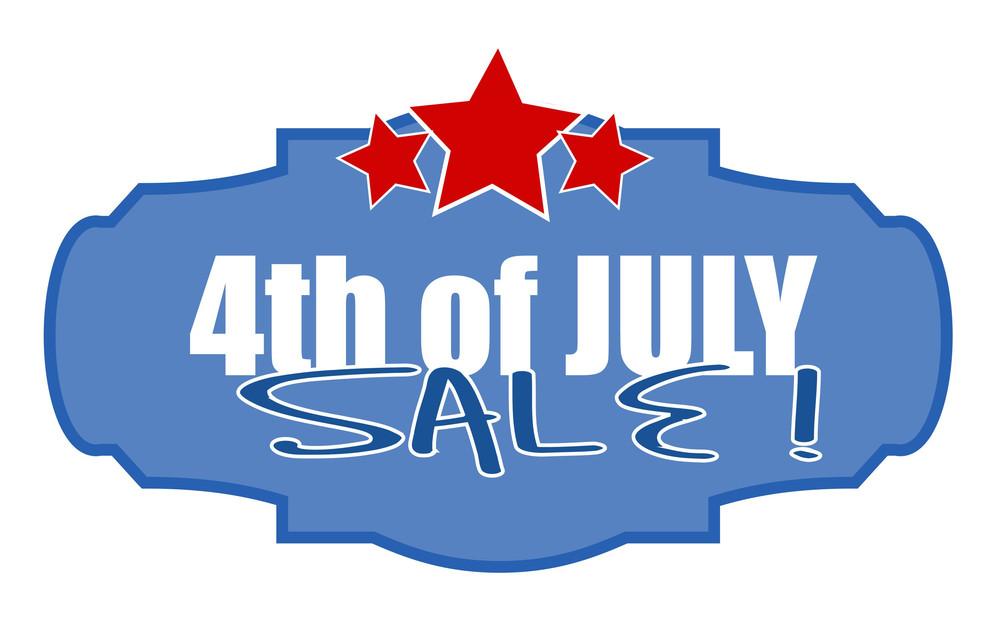 Liberty Celebration Sale 4th Of July Vector Illustration