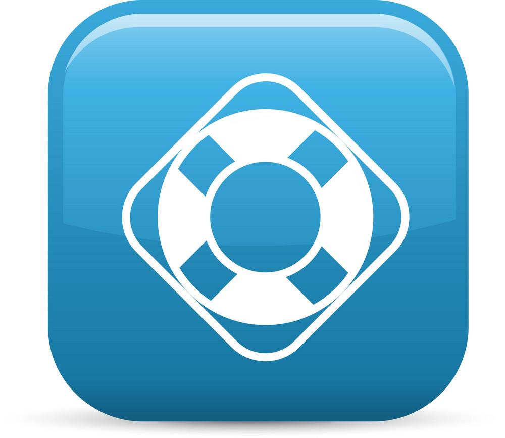 Lifer Preserver Help Elements Glossy Icon