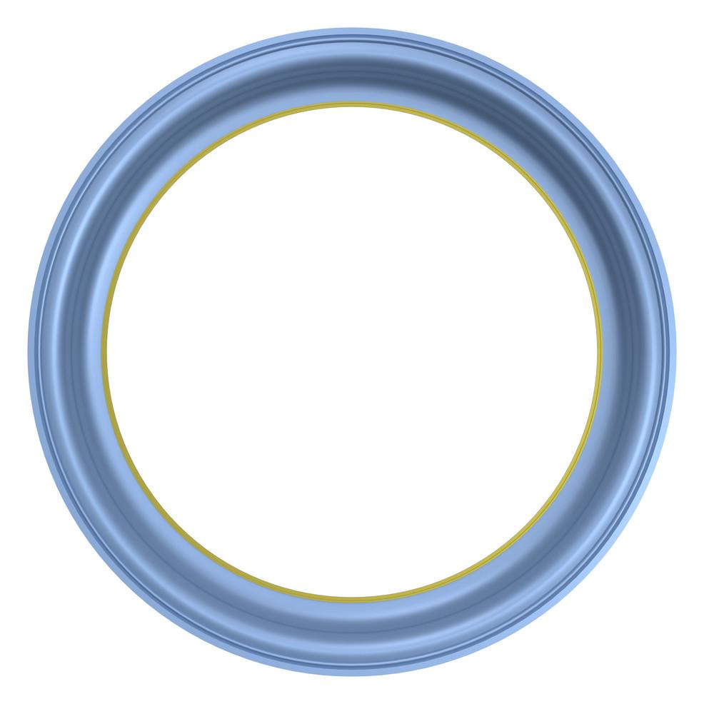 Light Blue Frame Isolated On White Background.