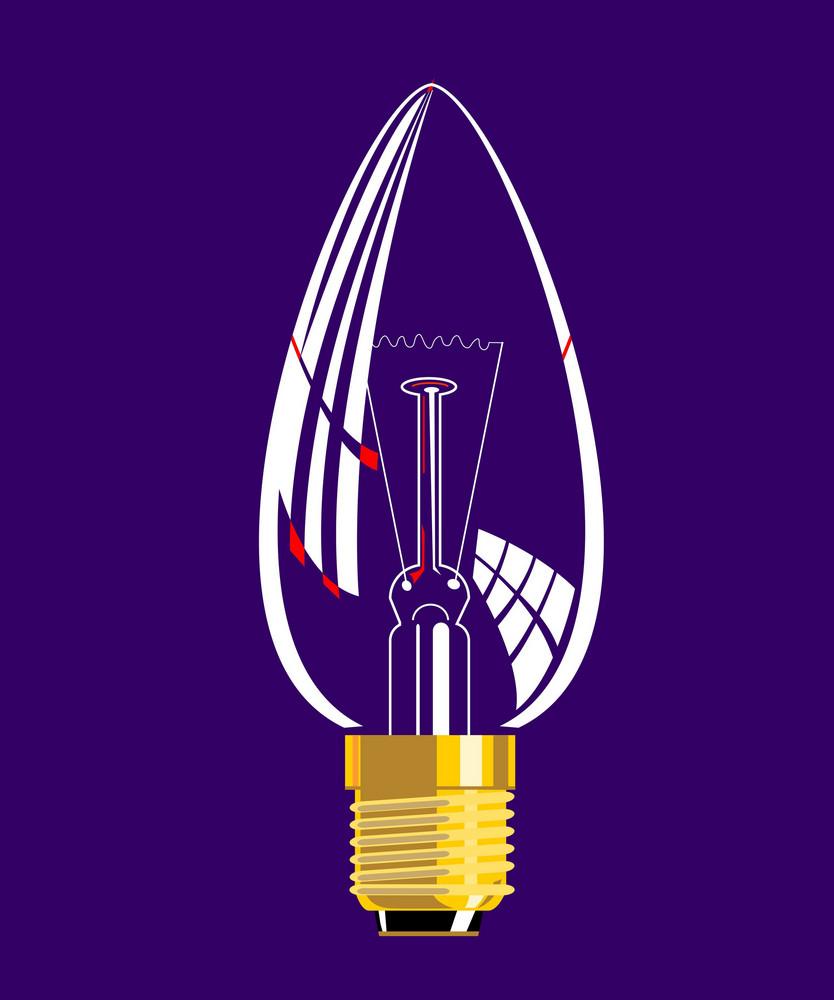 Lightbulb Candle Shaped