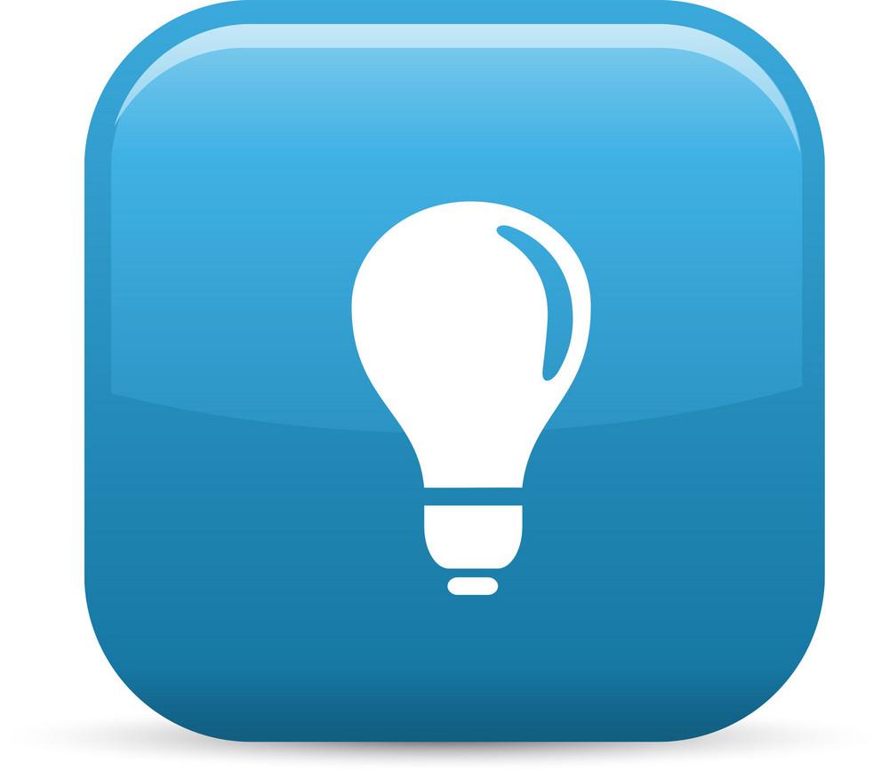 Lightbulb Elements Glossy Icon